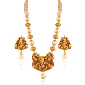 Buy Gorgeous Ganesh Gold plated temple set Online