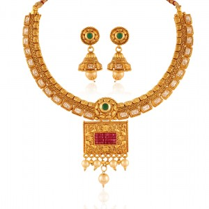 Buy Temptation Gold plated antique set Online