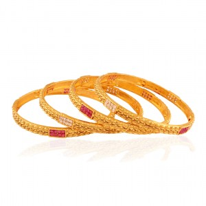 Buy Get-Gorgeous Gold plated fusion bangle Online