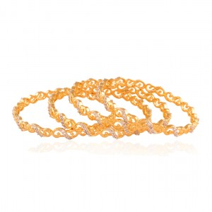 Buy Majestic Gold plated ad bangle Online