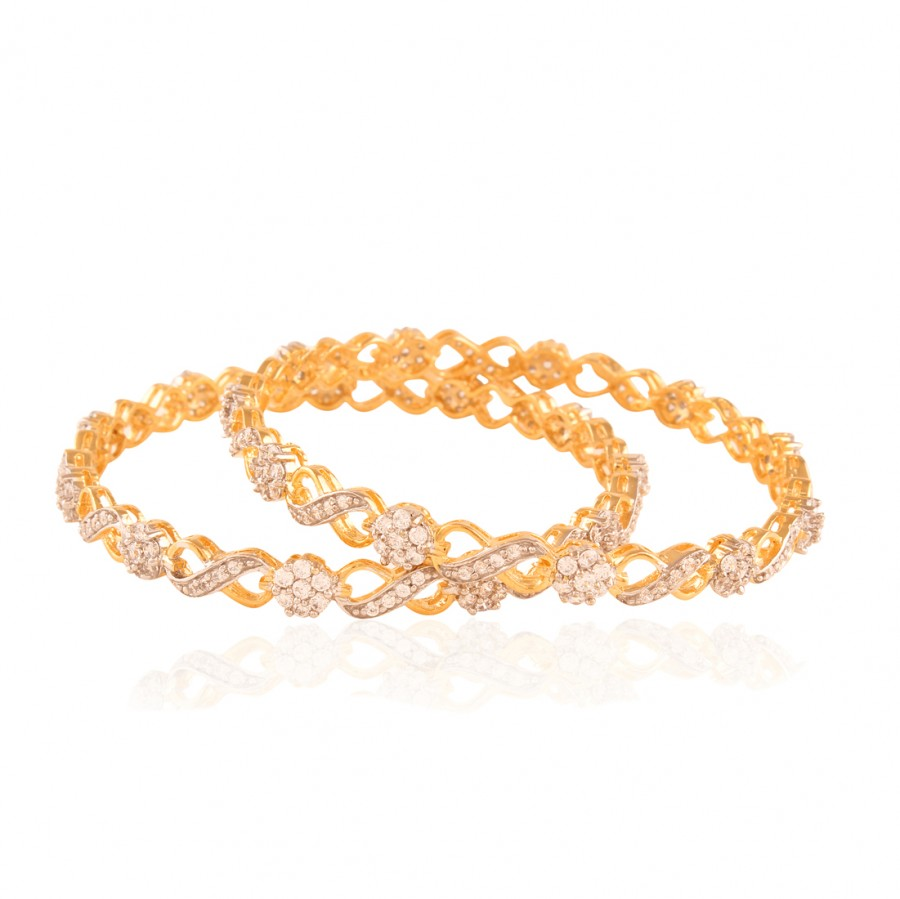 Buy Mesmerising Gold plated ad bangle Online