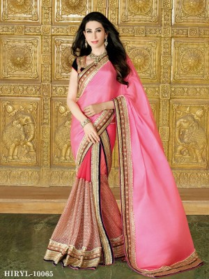 Buy Karishma Kapoor In New Latest Designer Pink Saree Online