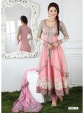 VandV New Pink Long Anarkali Salwar Kameez