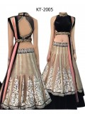 Beautiful Net Black & Cream Sequence Work Lehenga Choli