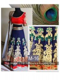 VandV Blue And Red Combination Beatifull Lehenga Choli