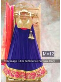 Blue & Peach Designer Georgette Lehenga Choli