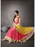 VandV New Georgette Double Flair Anarkali Suit