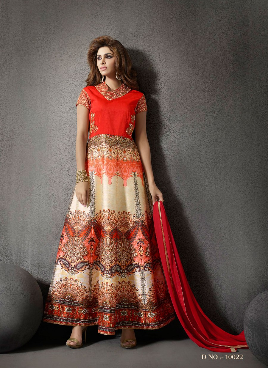719751c735b Buy VandV Beautiful Digital Print Anarkali Suit Online