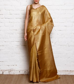 Buy Gold Tissue Saree Online