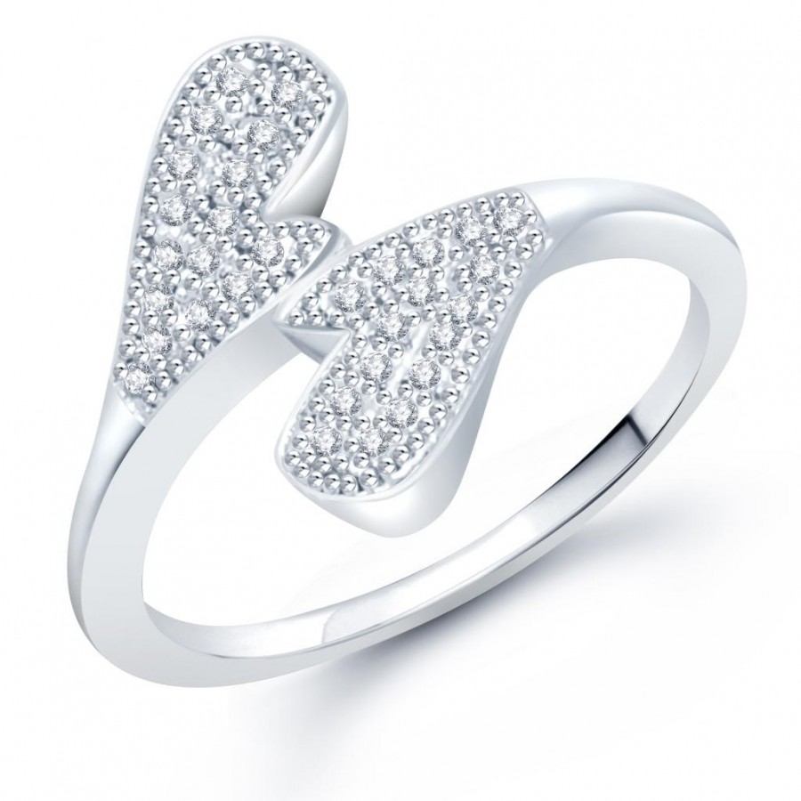 Buy Pissara Gleaming Micro Pave Setting Rhodium Plated CZ Ring for Women(332R400) Online