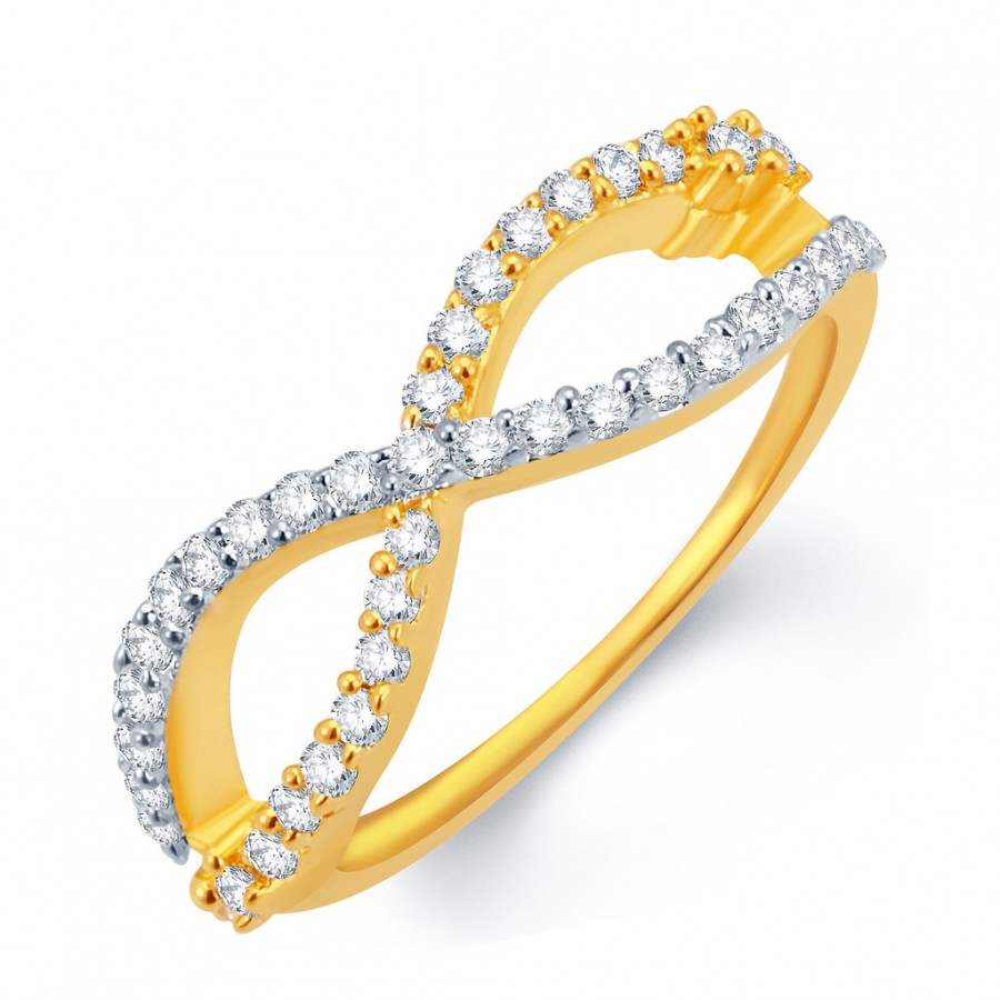 Buy Pissara Stunning Gold and Rhodium Plated CZ Ring Online
