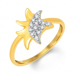 Buy Pissara Delightful Gold and Rhodium Plated Cubic Zirconia Ring Online