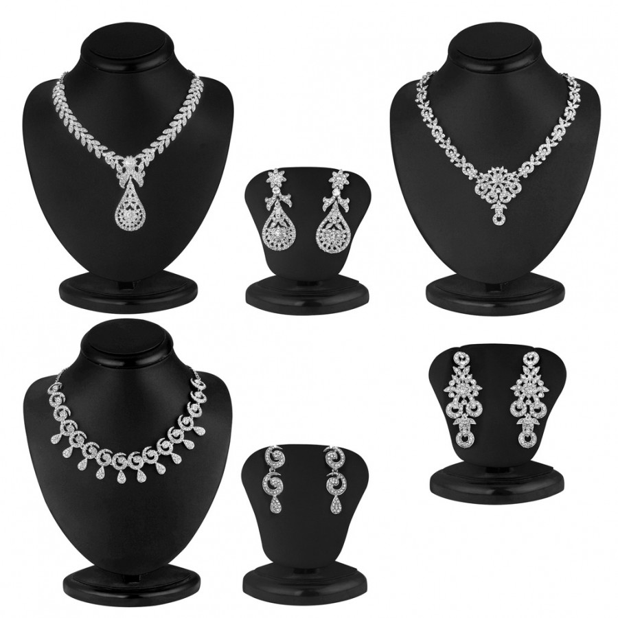 Buy Sukkhi Exclusive 3 Piece Necklace Set Combo Online