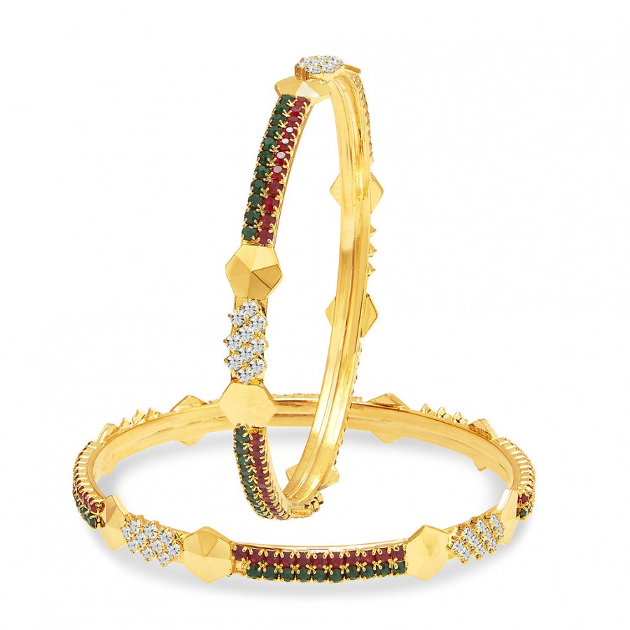 Buy Sukkhi Gorgeous Gold Plated AD Bangle For Women Online