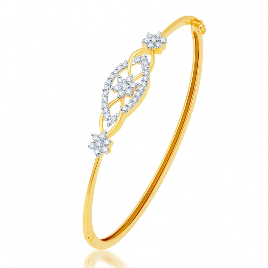 Buy Pissara Stunning Gold and Rhodium Plated CZ Kada Online
