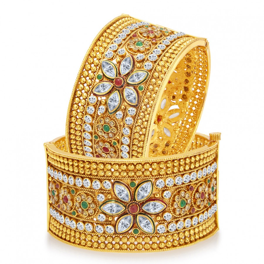 Buy Sukkhi Pleasing Gold Plated Bangle For Women Online