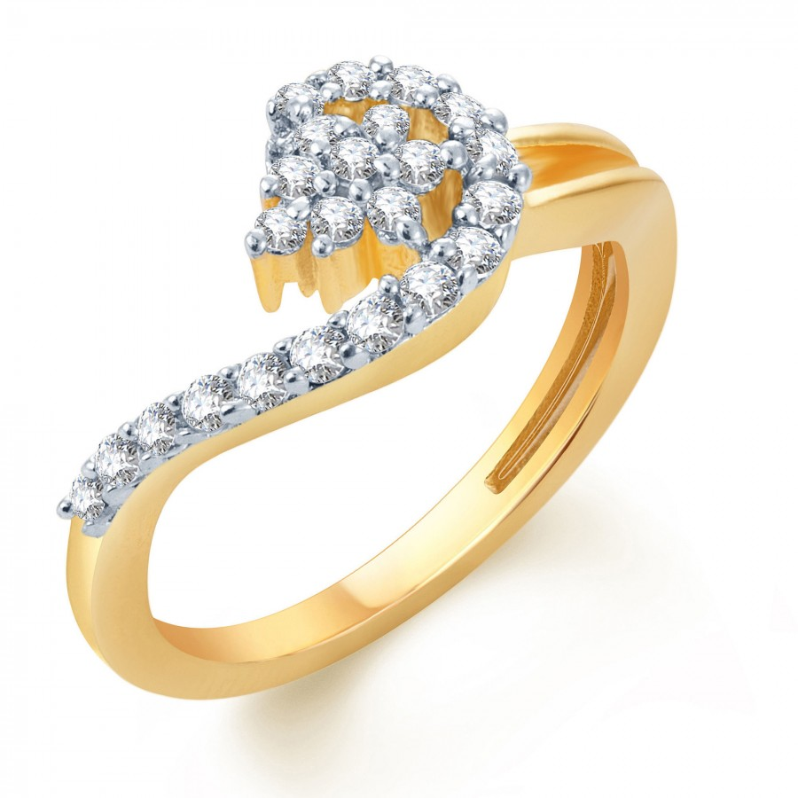 Buy Pissara Delightful Gold and Rhodium Plated CZ Ring Online