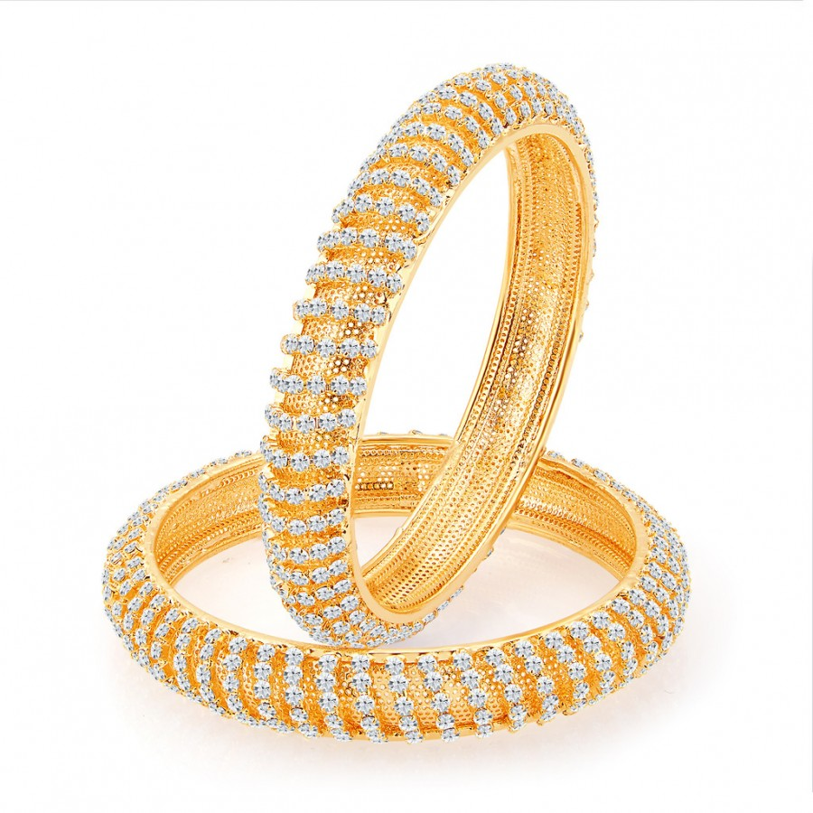 Buy Sukkhi Incredible Gold Plated AD Bangles For Women Online