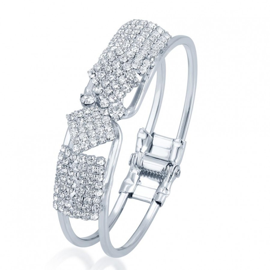 Buy Sukkhi Fascinating Rhodium Plated AD Kada for Women Online