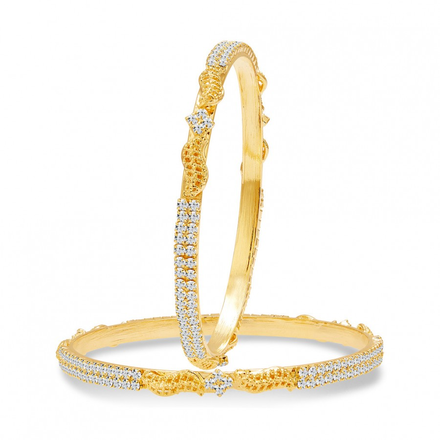Buy Sukkhi Modern Gold Plated AD Bangle For Women Online