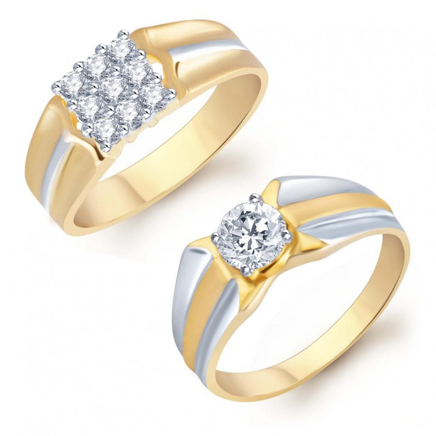 Buy Pissara Blossomy 2 Piece Ring Combo for Men Online