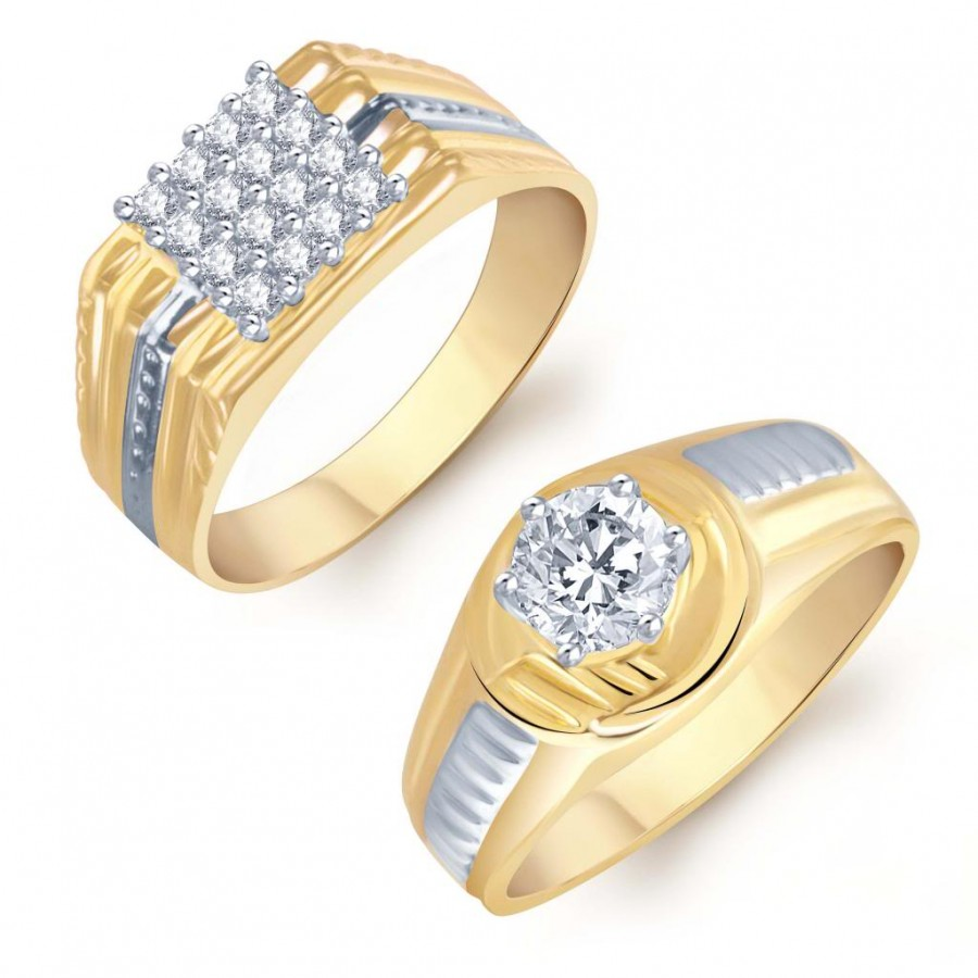 Buy Pissara Dazzling 2 Piece Ring Combo for Men Online