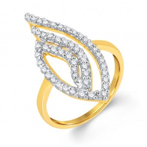 Buy Pissara Splendid Gold and Rhodium Plated Cubic Zirconia Ring Online