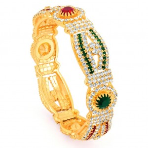 Buy Sukkhi Gold Plated Color Stone Kada - 1150VK1250 Online