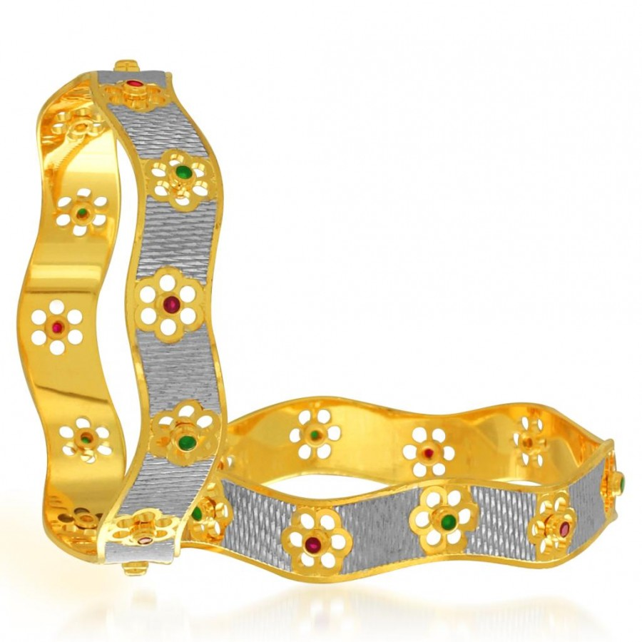 Buy Sukkhi Royal Gold and Rhodium Plated Dancing Bangles for Women Online