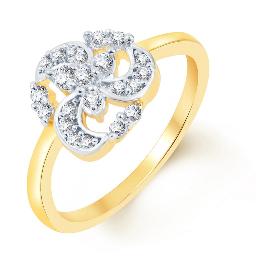 Buy Pissara Pleasing Two Tone CZ Ring Online