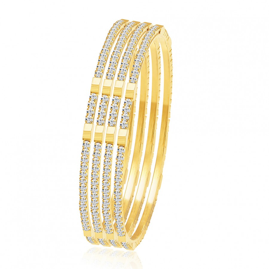Buy Sukkhi Charming Gold Plated AD Bangle For Women Online