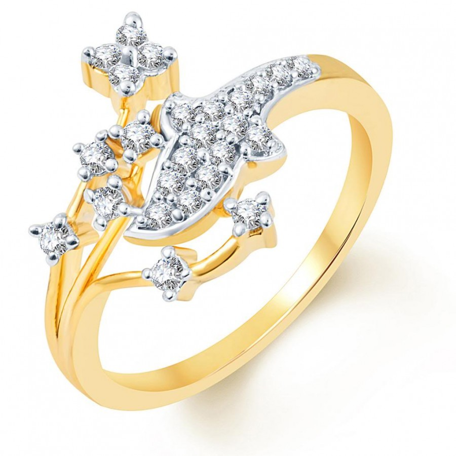 Buy Pissara Classy Two Tone CZ Ring Online