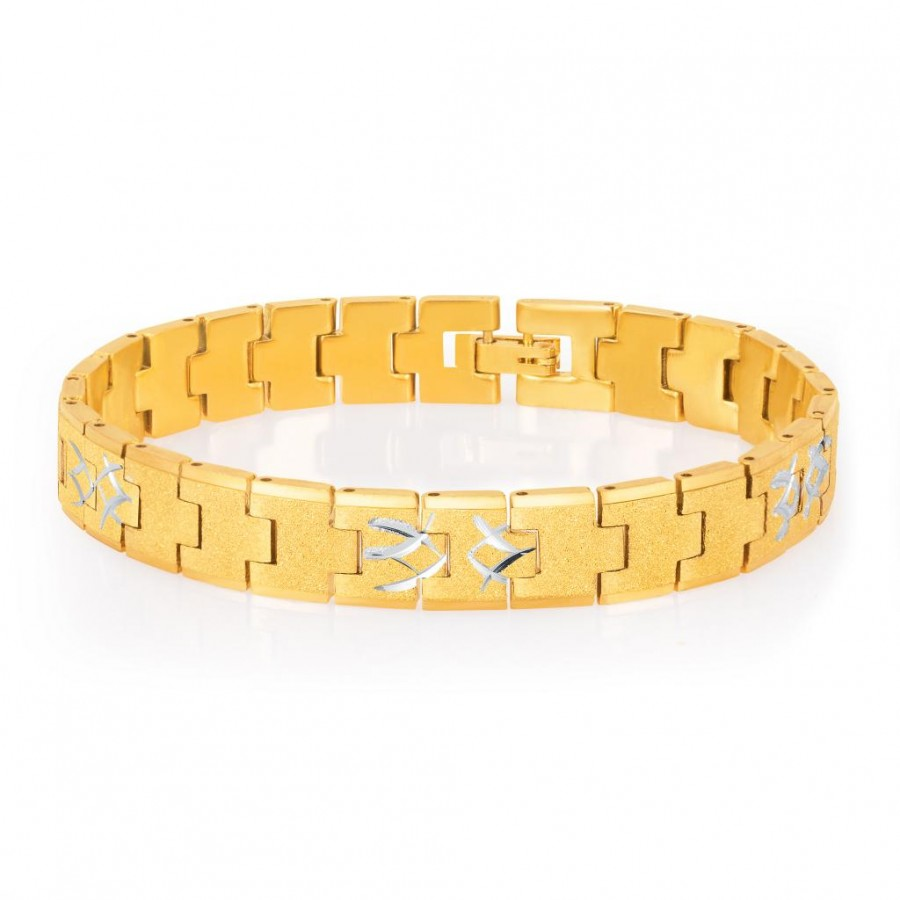Buy Sukkhi Classic Gold and Rhodium Plated Bracelet For Men Online