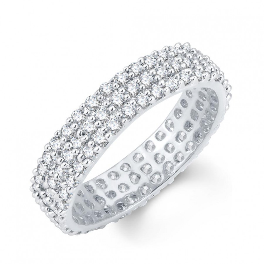 Buy Pissara Moddish Rhodium Plated Cubic Zirconia Ring Online