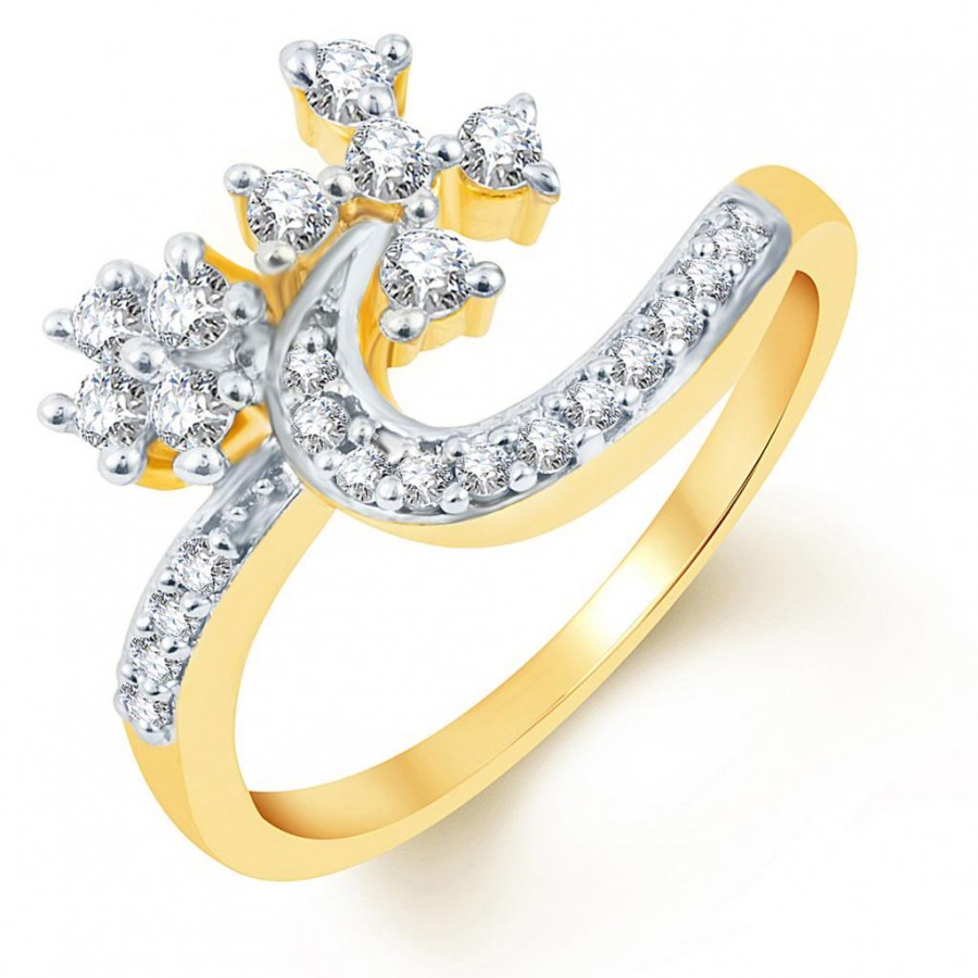 Buy Pissara Artistically Crafted Two Tone CZ Ring Online