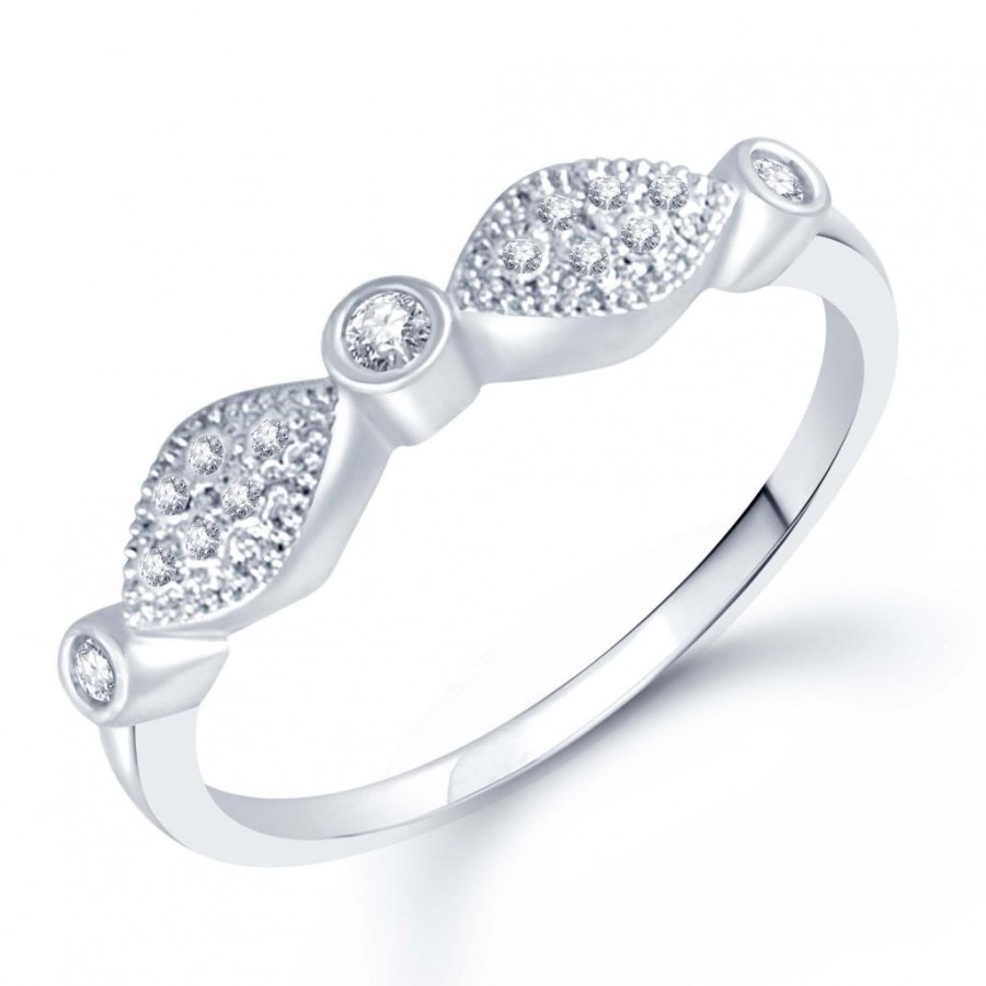 Buy Pissara Beguiling Micro Pave Setting Rhodium Plated CZ Ring for Women(338R340) Online