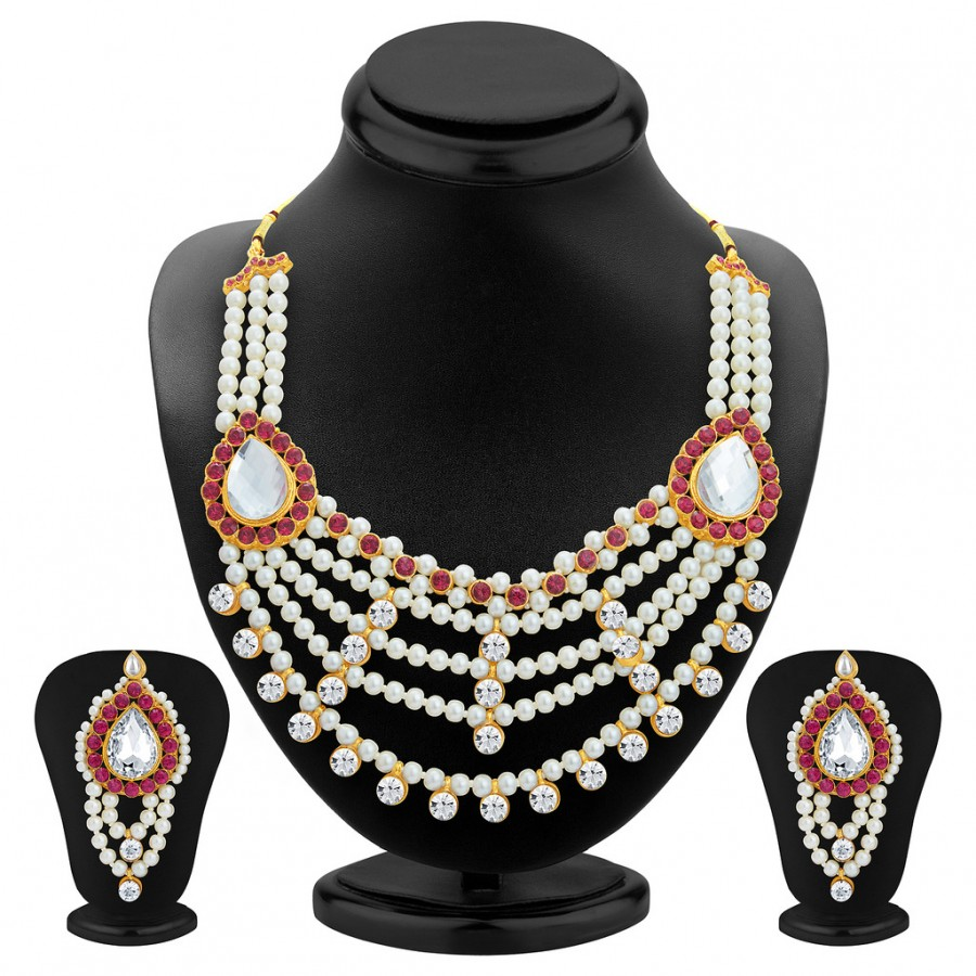 Buy Sukkhi Glamorous Gold Plated Necklace Set For Women Online