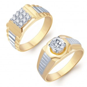 Buy Pissara Angelic 2 Piece Ring Combo for Men Online