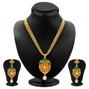 Buy Sukkhi Modish Gold Plated Pendant Set For Women Online