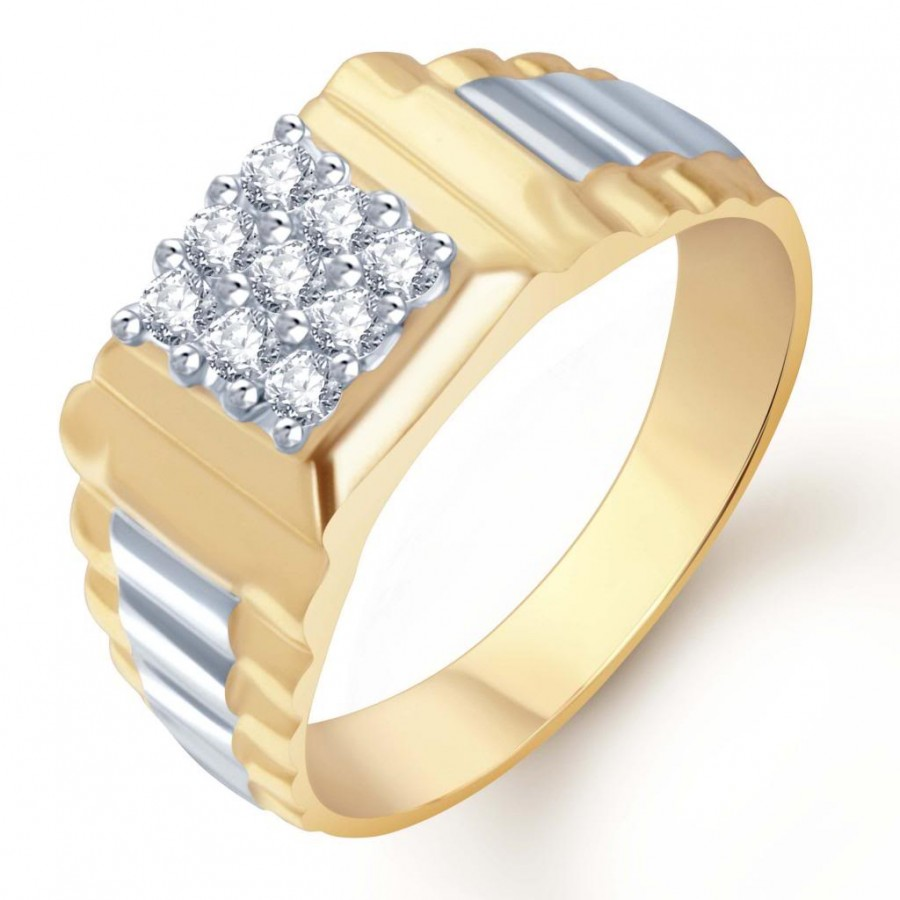 Buy Pissara Gold and Rhodium Plated CZ Ring for Men(108GRK540) Online