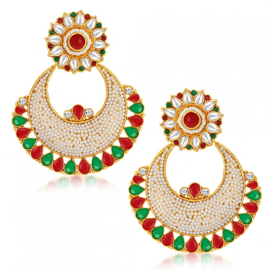 Buy Sukkhi Finely Gold Plated Australian Diamond Earrings Online