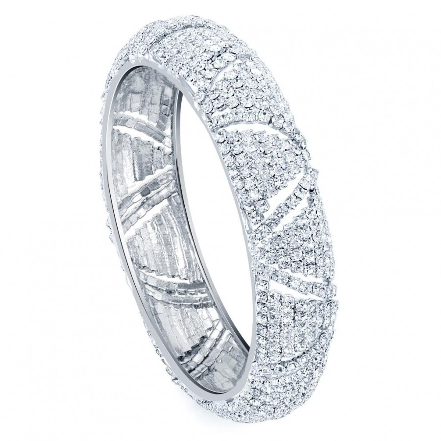 Buy Sukkhi Rhodium Plated Flexible AD kada - 1110VK1250 Online