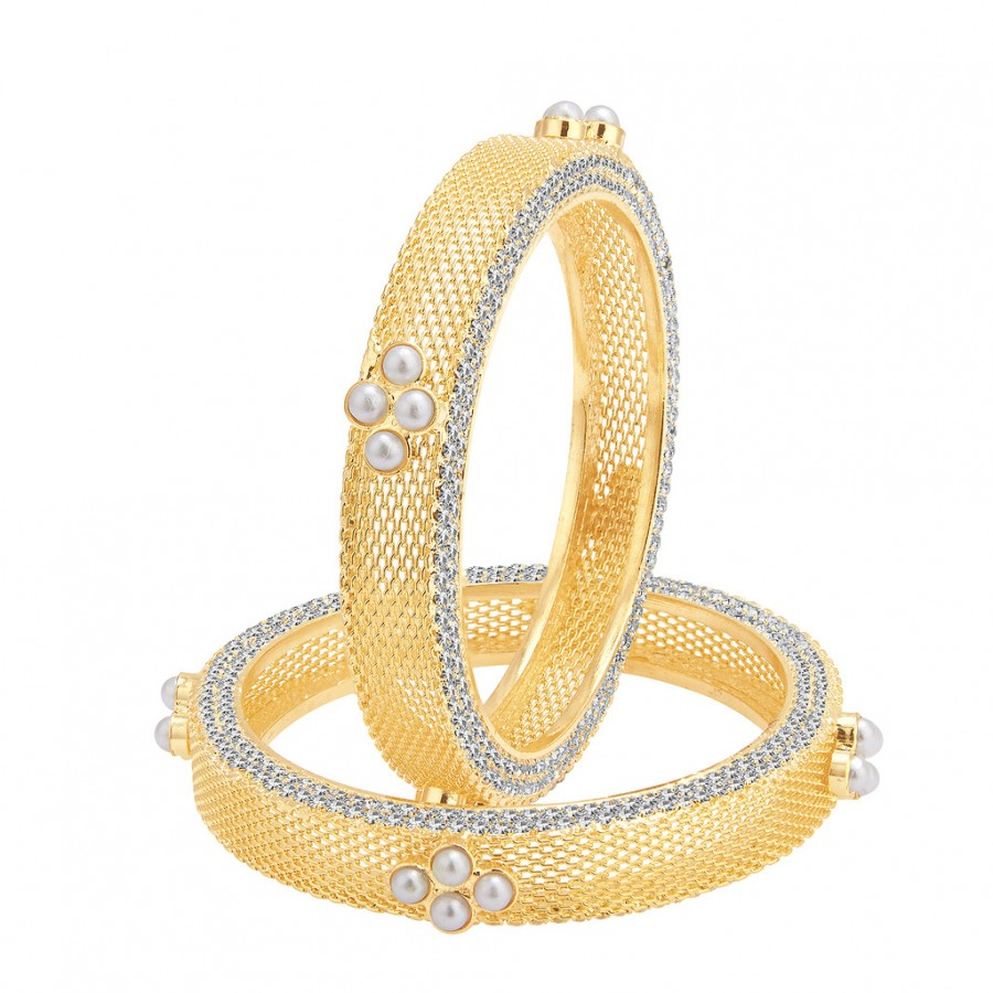 Buy Sukkhi Delightful Gold Plated AD Bangle For Women Online