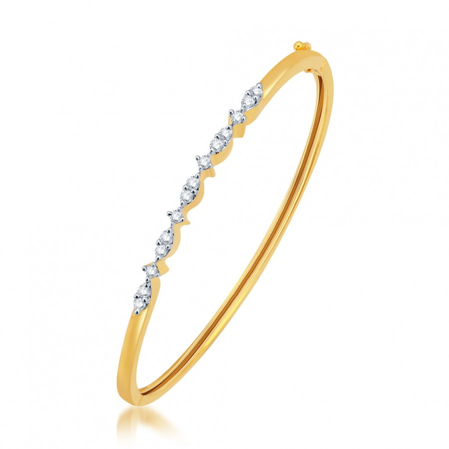 Buy Pissara Pleasing Gold and Rhodium Plated CZ Kada Online
