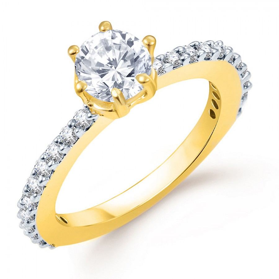 Buy Pissara Marvellous Gold and Rhodium Plated CZ Ring Online