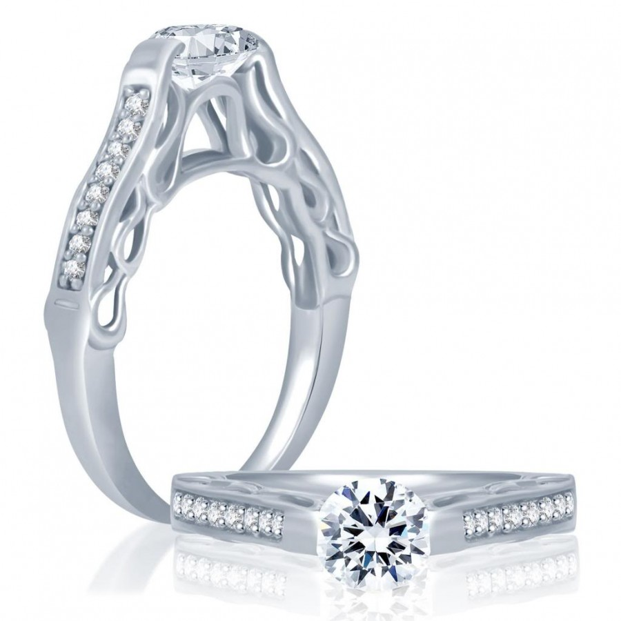 Buy Pissara Round Rhodium Plated CZ Ring Online