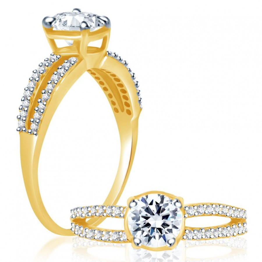 Buy Pissara Enchanting Two Tone CZ Ring Online