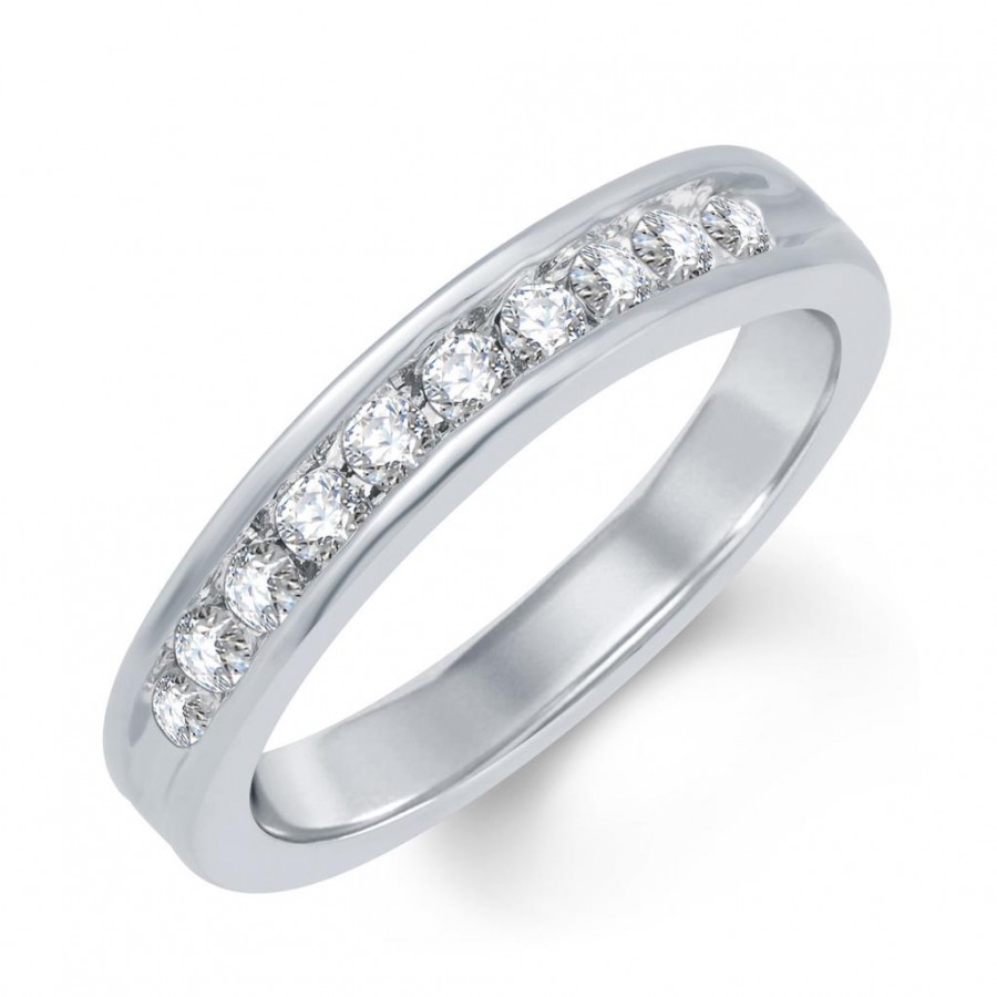 Buy Pissara Sparkling Rhodium Plated Cubic Zirconia Ring Online