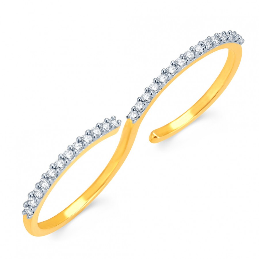 Buy Pissara Shimmering Gold and Rhodium Plated CZ Ring Online