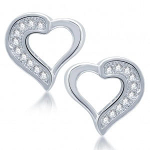 Buy Pissara Fascinating Rhodium Plated Micro Pave CZ Earrings Online